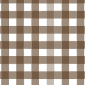 brushed wide gingham mocha brown