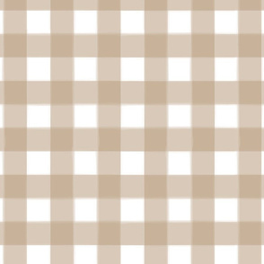 brushed wide gingham sand brown