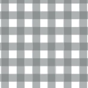 brushed wide gingham dark platinum grey
