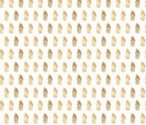 Gold Pineapple rows fabric by crystal_walen on Spoonflower - custom fabric