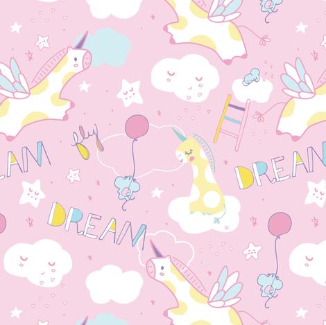 Little Dreamer fabric by limegreenpalace on Spoonflower - custom fabric
