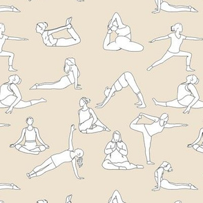 Yoga on Beige