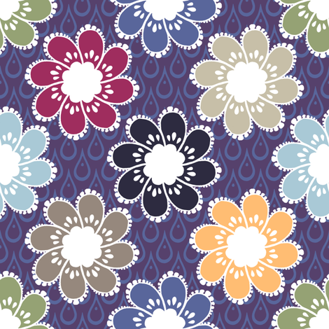 Rainy Day Flowers - Windowbox fabric by siya on Spoonflower - custom fabric
