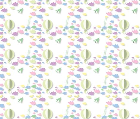 Skyward Dreams springtime fabric by colour_angel_by_kv on Spoonflower - custom fabric