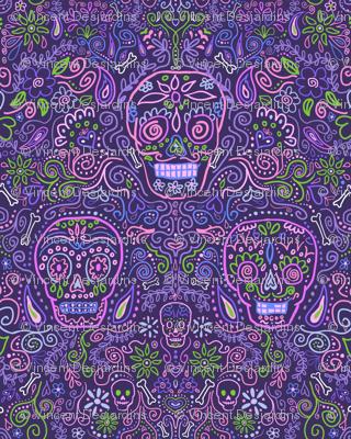 Sugar Skulls Purple