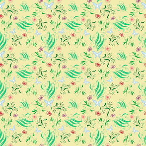 Kokiri Forest Inspired Fabric