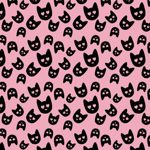 Love Cats on Pink