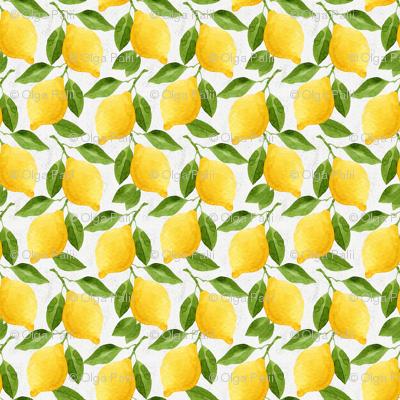 Watercolor Lemons Pattern