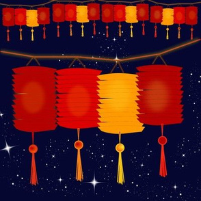 Lanterns in the night