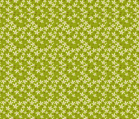 spring greens fabric by floramoon on Spoonflower - custom fabric