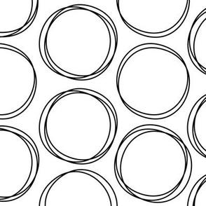 doodle circles » black + white no.2