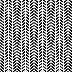 tiny herringbone » black + white no.2