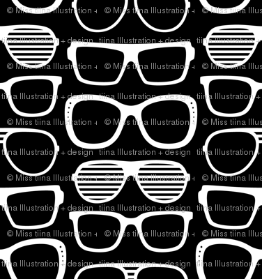sunglasses LG reversed » black + white no.2
