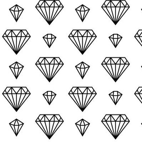 diamonds forever 2 » black + white no.3