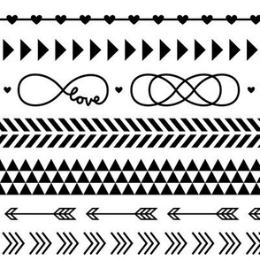 tribal infinity mix » black + white no.3