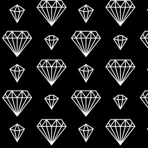 diamonds forever 2 reversed » black + white no.3