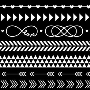 tribal infinity mix reversed » black + white no.3