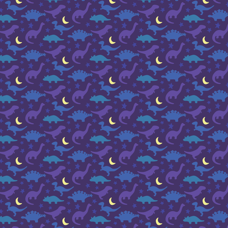 Dinosnore purple dinosaurs fabric robinskarbek for Purple dinosaur fabric