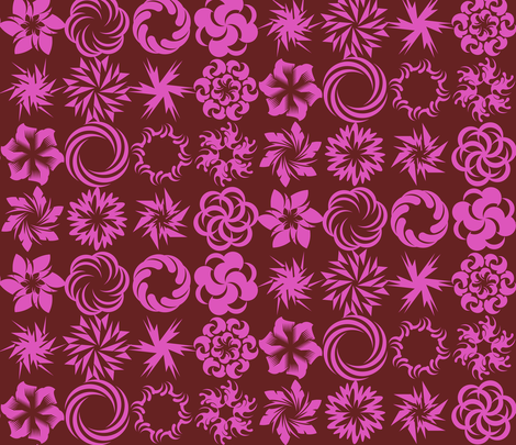 Pinwheel Whirligigs - Rose fabric by zuzana_licko on Spoonflower - custom fabric