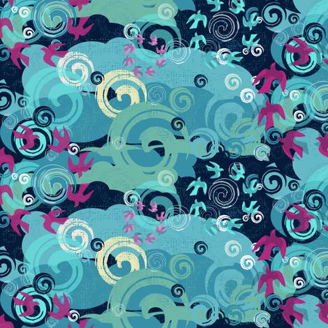 Soaring Skies fabric by paula's_designs on Spoonflower - custom fabric