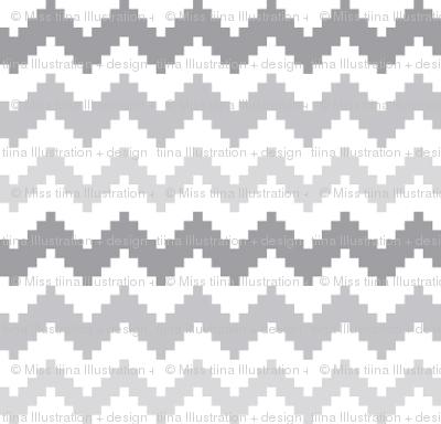 knitted grey no.2 chevron