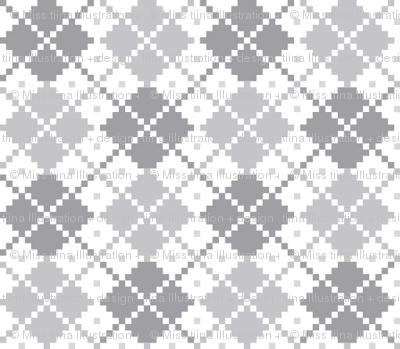 knitted grey no.4 argyle