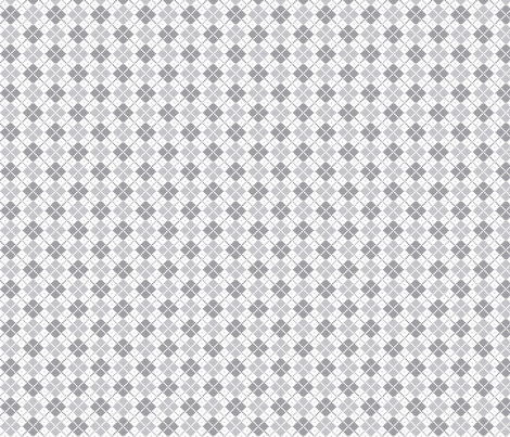 knitted grey no.4 argyle fabric by misstiina on Spoonflower - custom fabric
