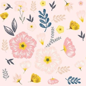 Monarch Gold Floral in Pink