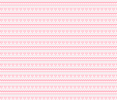 knitted pink no.1 fair isle fabric by misstiina on Spoonflower - custom fabric