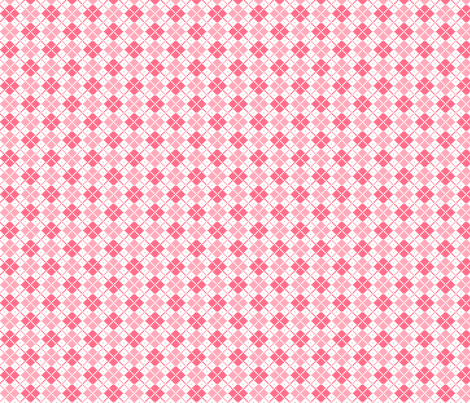 knitted pink no.4 argyle fabric by misstiina on Spoonflower - custom fabric