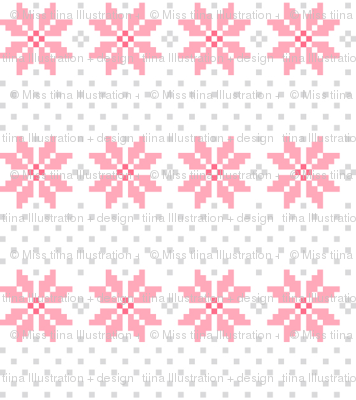 knitted pink no.5 poinsettias