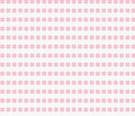knitted pink no.5 poinsettias fabric by misstiina on Spoonflower - custom fabric