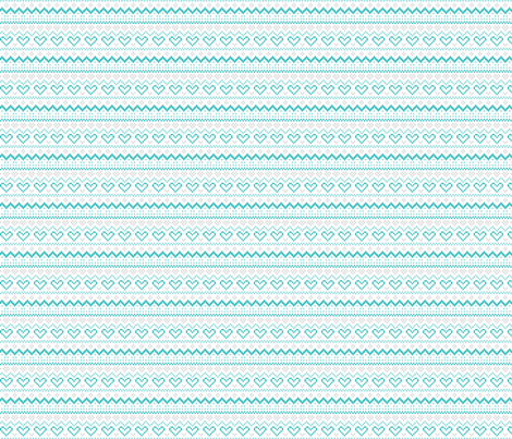 knitted teal no.1 fair isle fabric by misstiina on Spoonflower - custom fabric