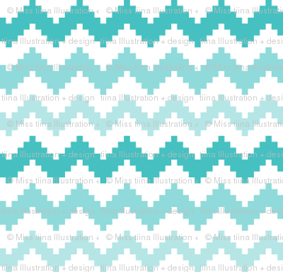 knitted teal no.2 chevron