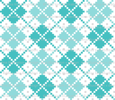 knitted teal no.4 argyle