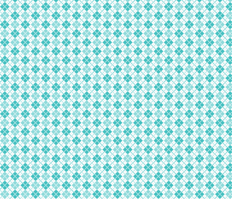 knitted teal no.4 argyle fabric by misstiina on Spoonflower - custom fabric
