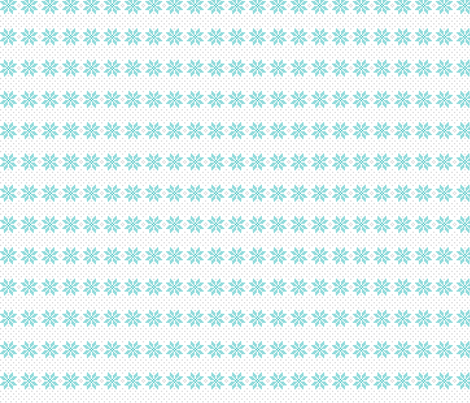 knitted teal no.5 poinsettias fabric by misstiina on Spoonflower - custom fabric