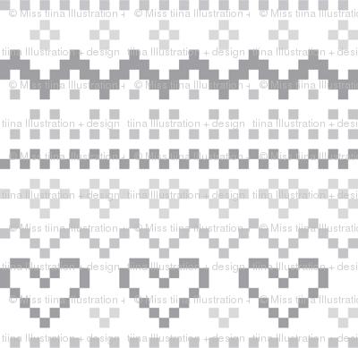 knitted grey no.1 LG fair isle
