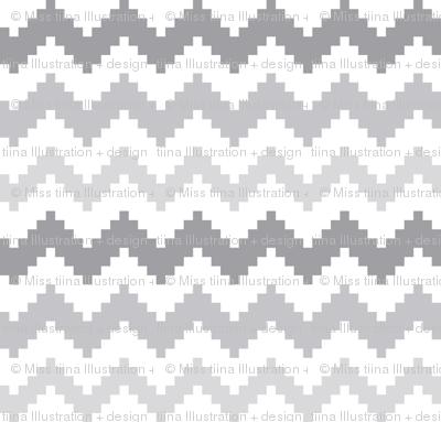 knitted grey no.2 LG chevron