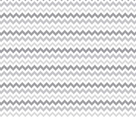knitted grey no.2 LG chevron fabric by misstiina on Spoonflower - custom fabric