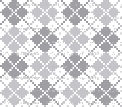 knitted grey no.4 LG argyle