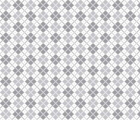 knitted grey no.4 LG argyle fabric by misstiina on Spoonflower - custom fabric