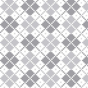 knitted grey no.4 LG argyle