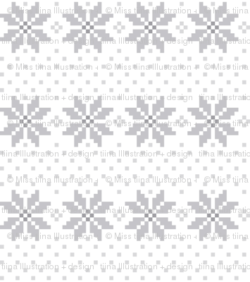 knitted grey no.5 LG poinsettias