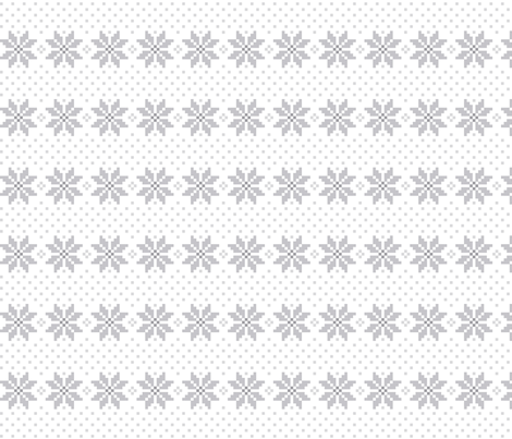 knitted grey no.5 LG poinsettias fabric by misstiina on Spoonflower - custom fabric