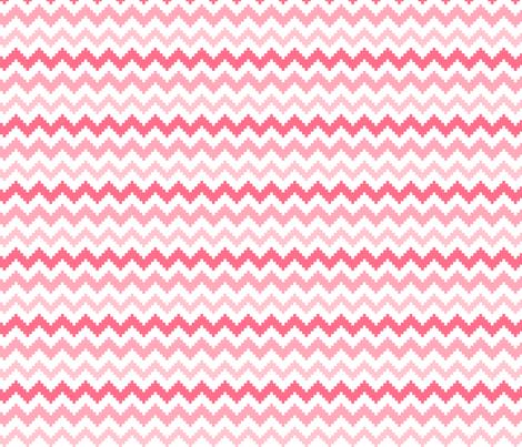 knitted pink no.2 LG chevron fabric by misstiina on Spoonflower - custom fabric