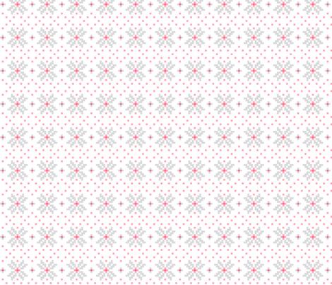 knitted pink no.3 LG poinsettias fabric by misstiina on Spoonflower - custom fabric