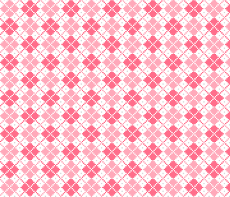 knitted pink no.4 LG argyle fabric by misstiina on Spoonflower - custom fabric