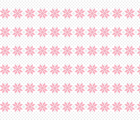 knitted pink no.5 LG poinsettias fabric by misstiina on Spoonflower - custom fabric