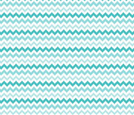 knitted teal no.2 LG chevron fabric by misstiina on Spoonflower - custom fabric